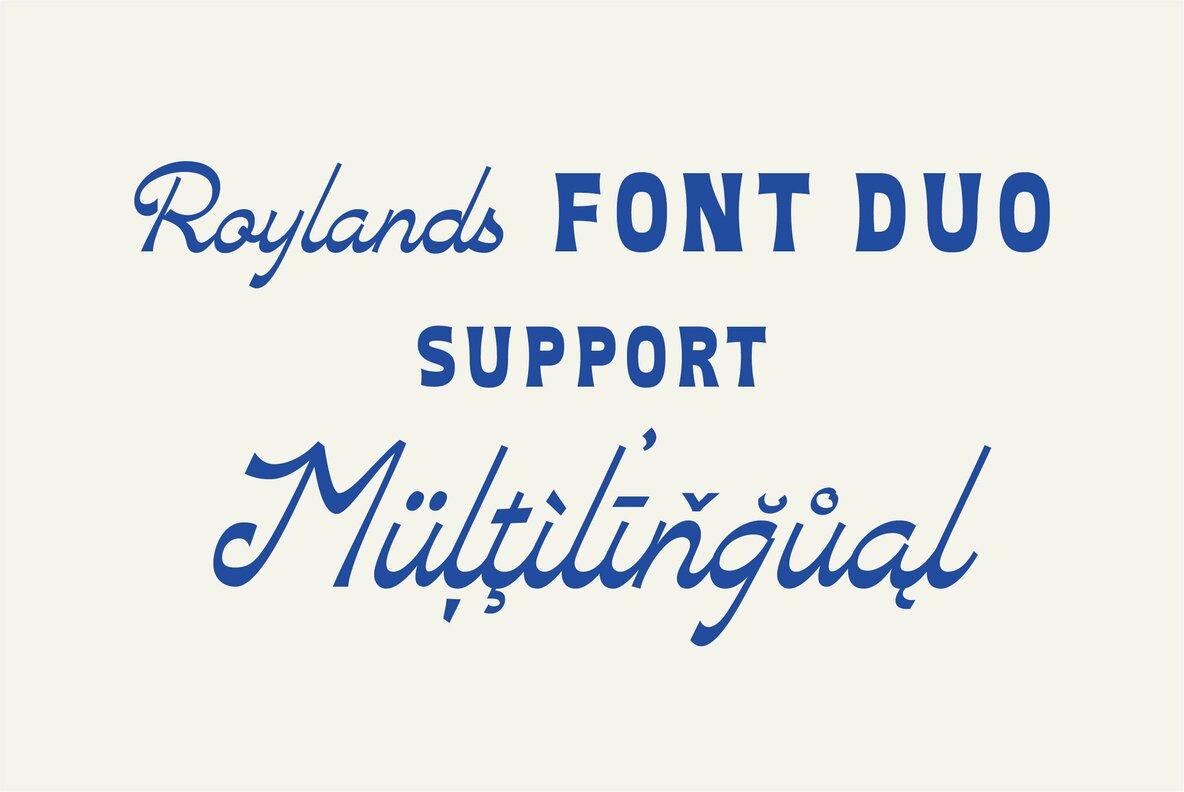 Roylands Font Duo