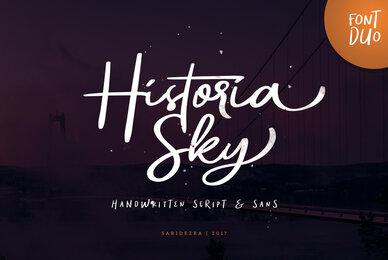 Historia Sky Font Duo