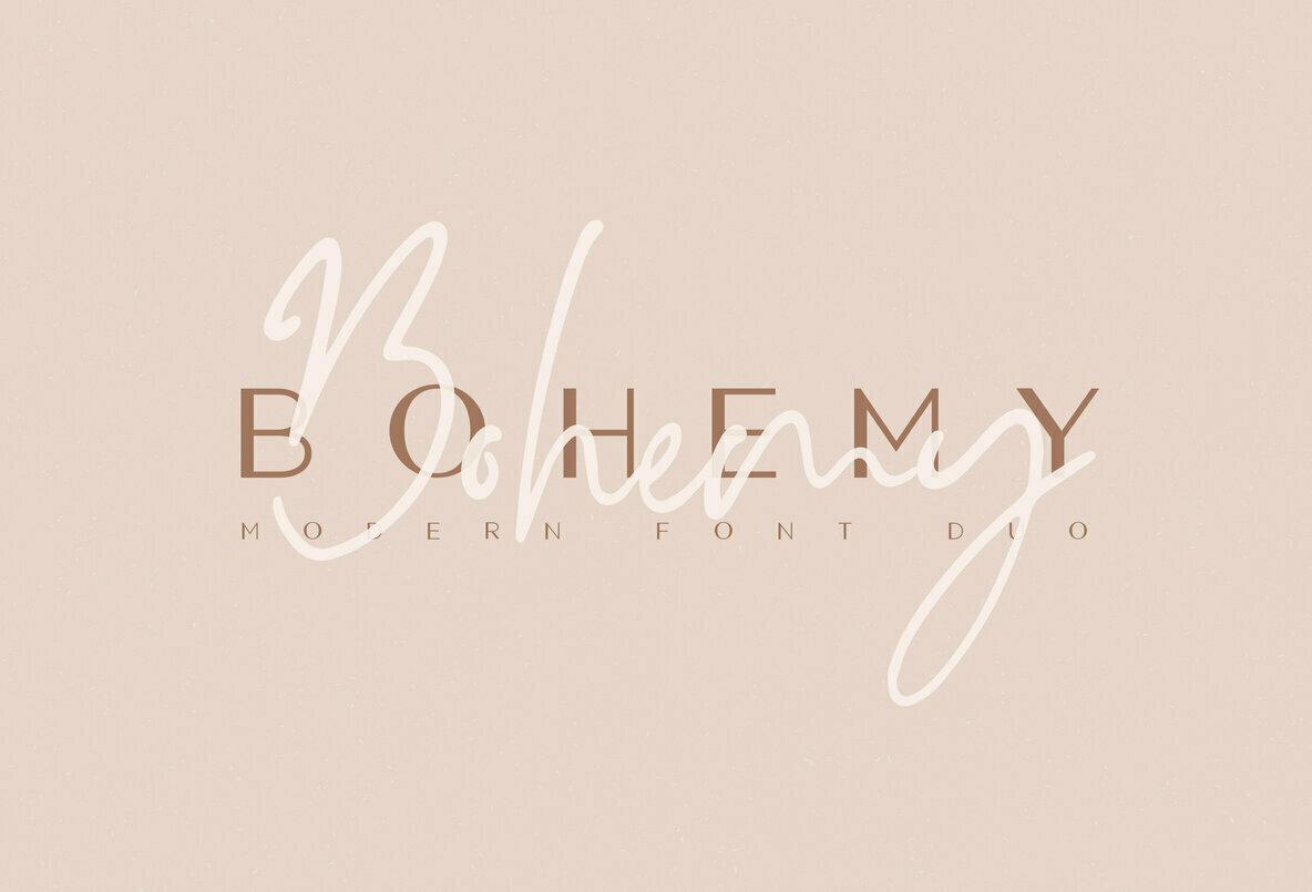 Bohemy Font Duo