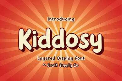 Kiddosy   Layered Display Font