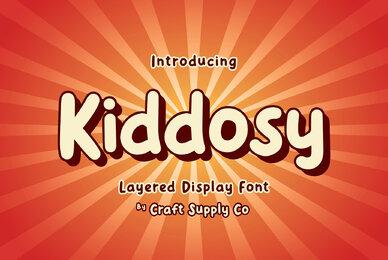 Kiddosy   Layered Display Font