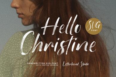 Hello Christine SVG Font
