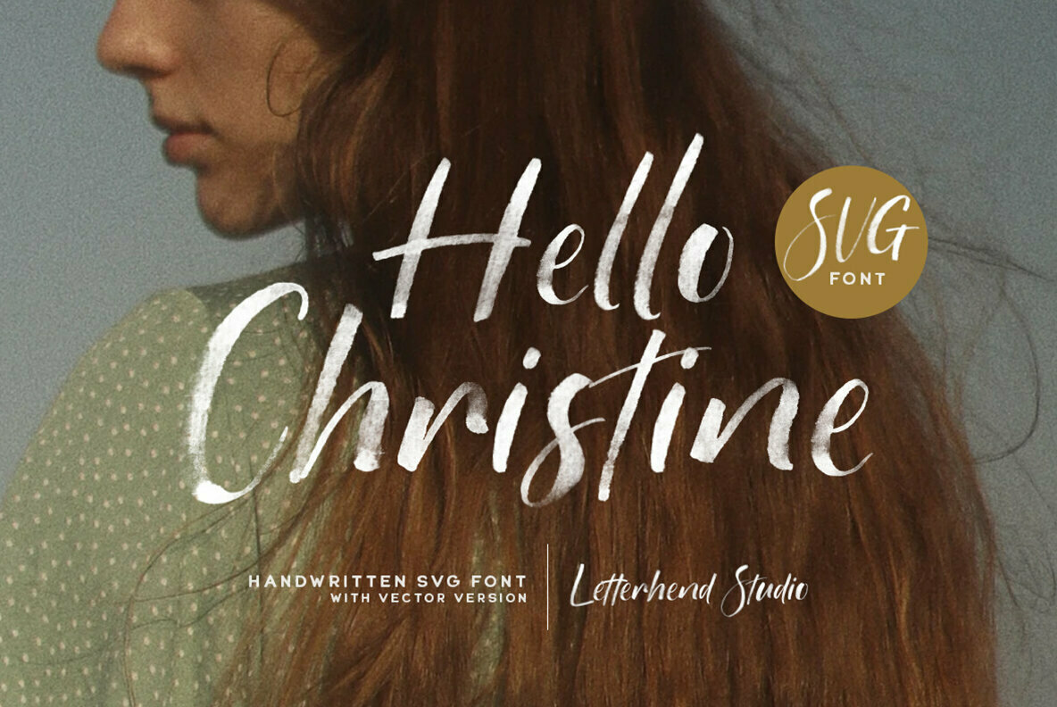 Hello Christine SVG Font