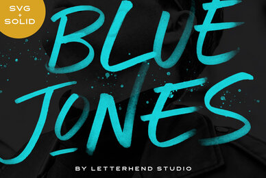 Blue Jones   SVG Font