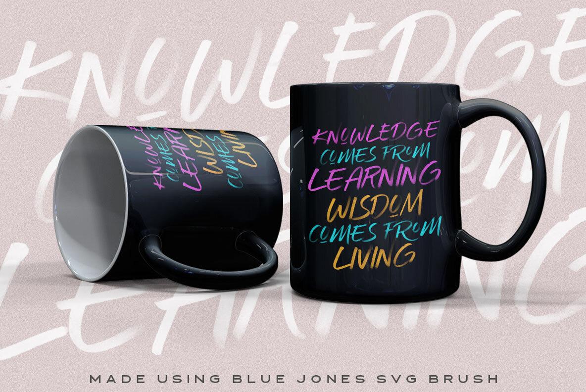 Blue Jones   SVG Font