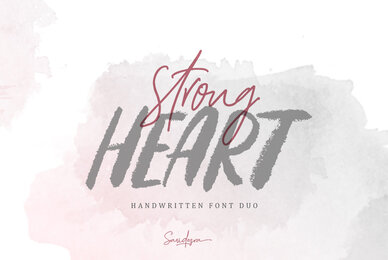 Strong Heart Font Duo