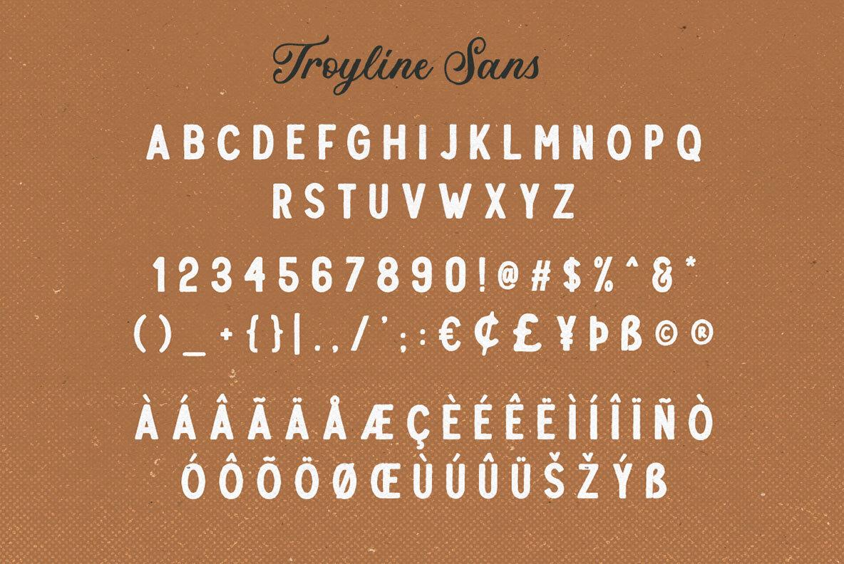 Troyline Font Duo