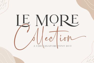 Le More Colletion Font Duo