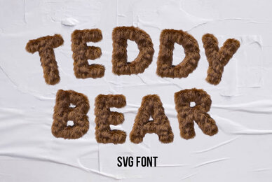 Teddy Bear SVG Font