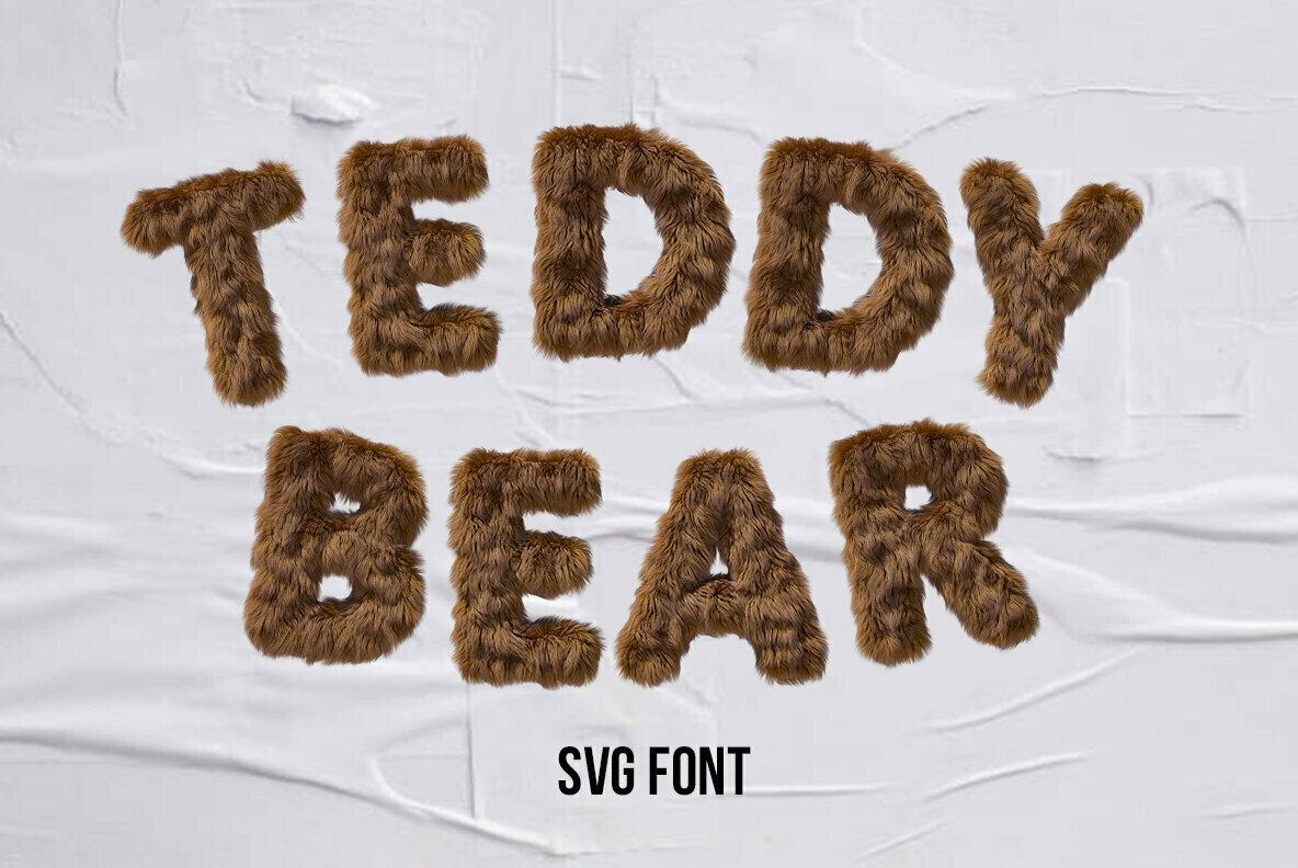 Teddy Bear SVG Font