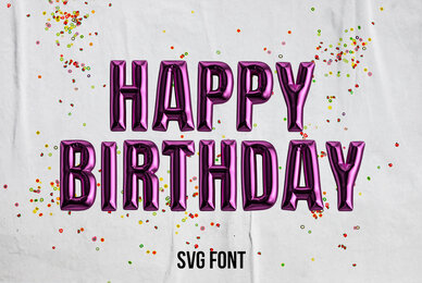 Happy Birthday SVG Font