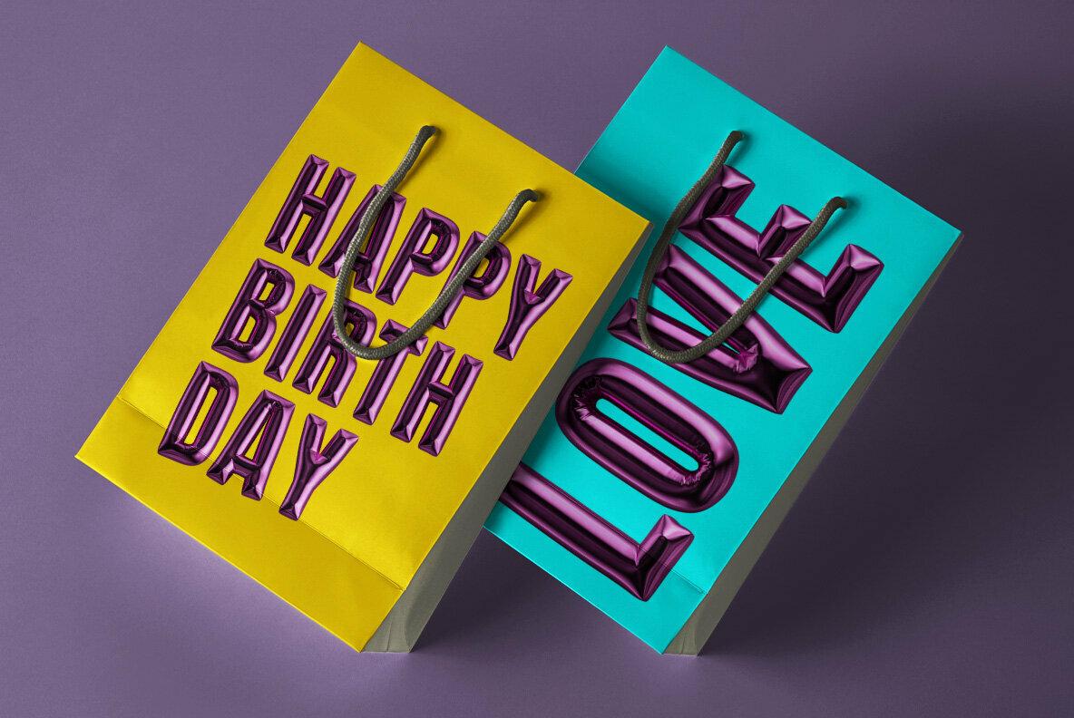 Happy Birthday SVG Font