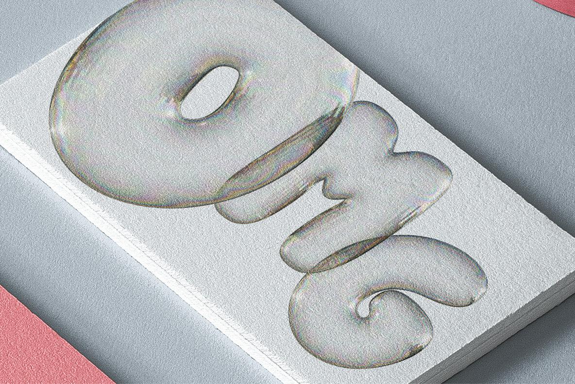 Soap Bubbles SVG Font