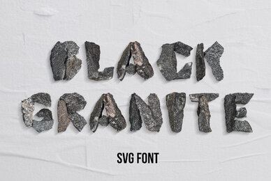 Black Granite SVG Font
