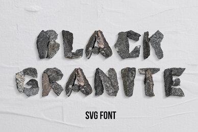 Black Granite SVG Font