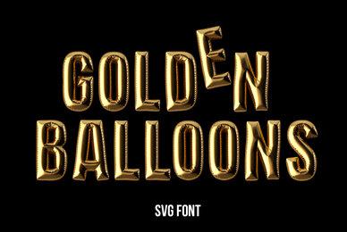 Golden Balloons SVG Font