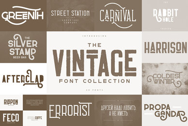 The Vintage Font Collection