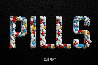 Pills SVG Font