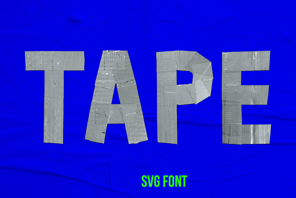 Mouth Tape SVG Font