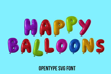 Happy Balloons SVG Font