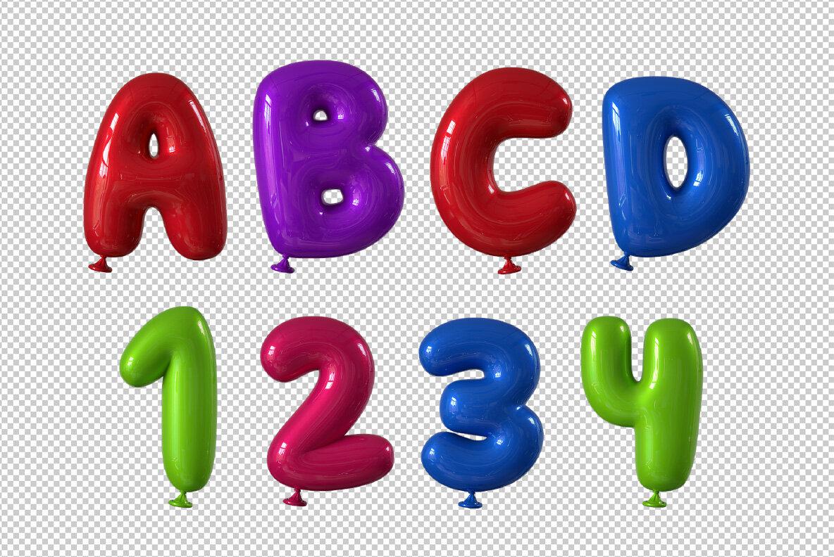 Happy Balloons SVG Font