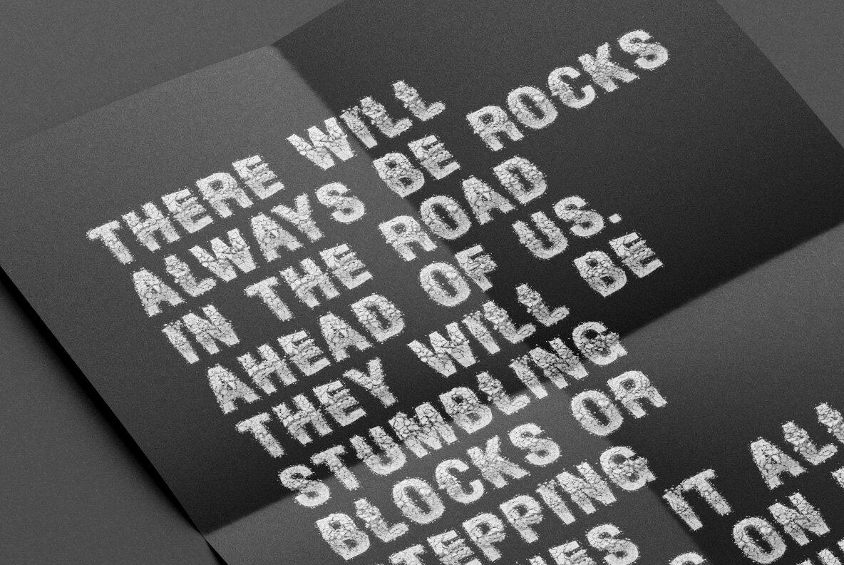 Particle Rock SVG Font