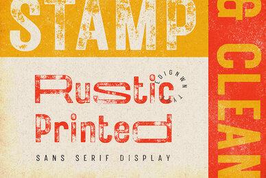 Rustic Printed