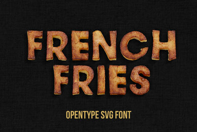 Fried Potatoes SVG Font