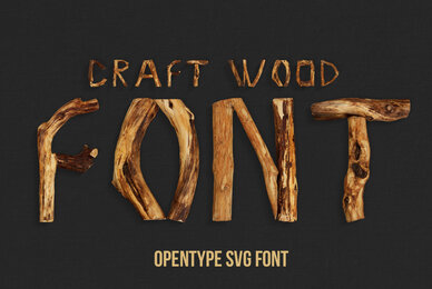 Craft Wood SVG Font