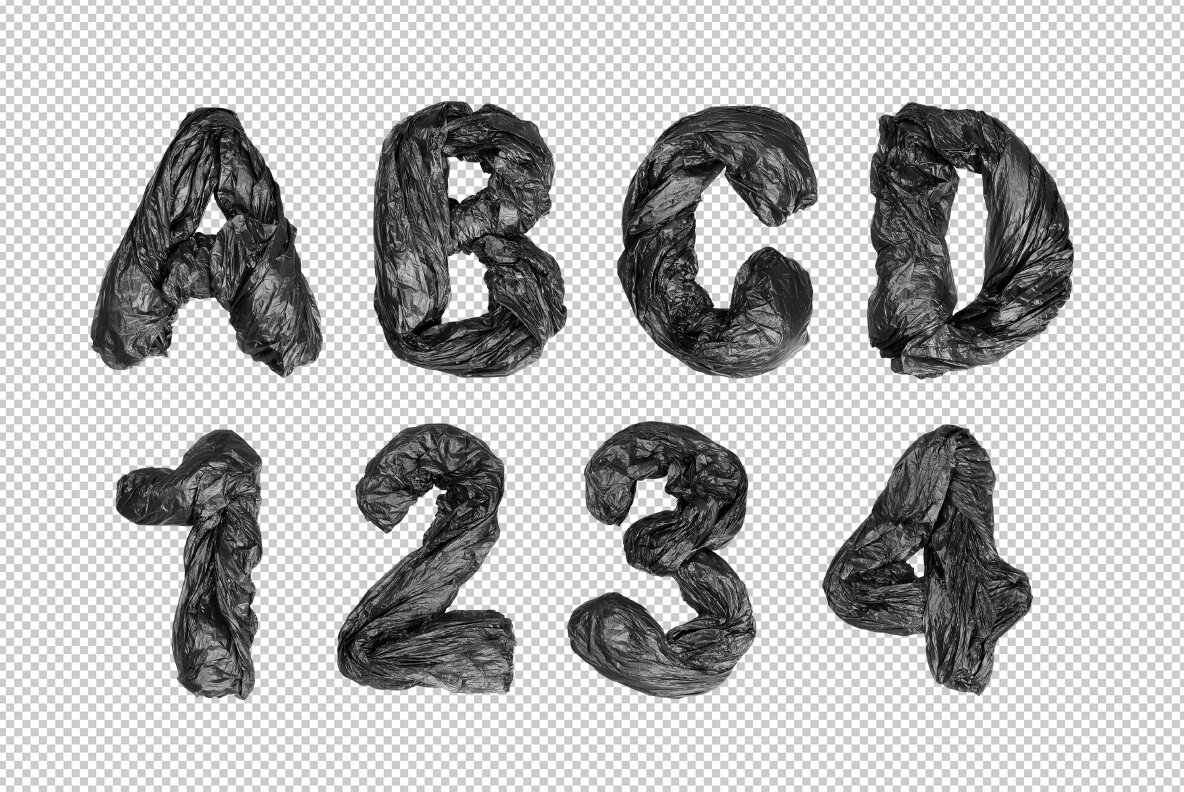 Garbage Bags SVG Font