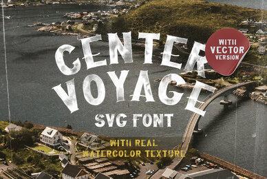 Center Voyage   SVG Font