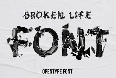 Broken Life SVG Font