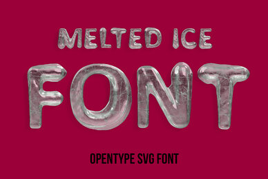 Melted Ice SVG Font
