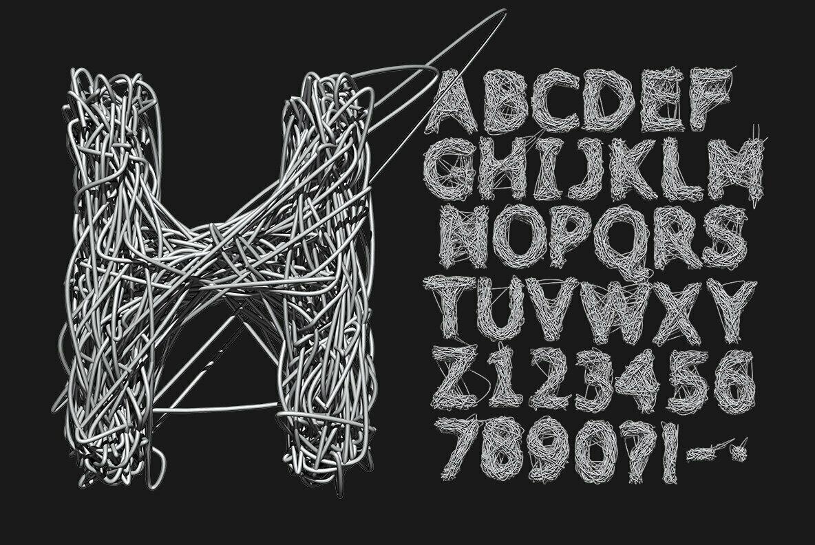 Metallic Web SVG Font