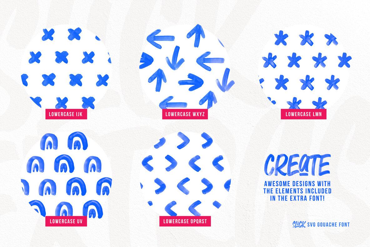 Slick SVG Brush Font