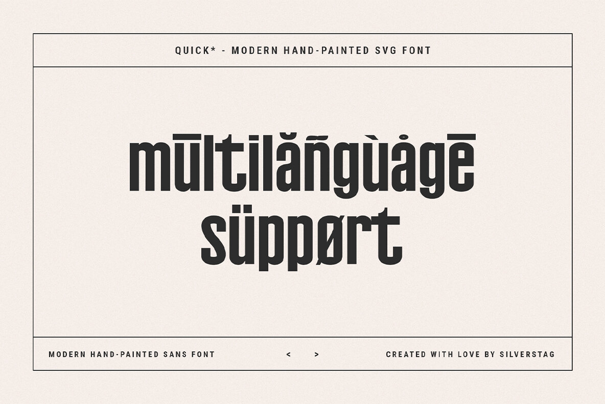 QUICK   Modern Hand Painted SVG Font