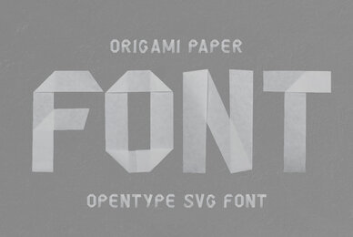 Origami Paper SVG Font