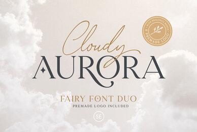 Cloudy Aurora   Font Duo