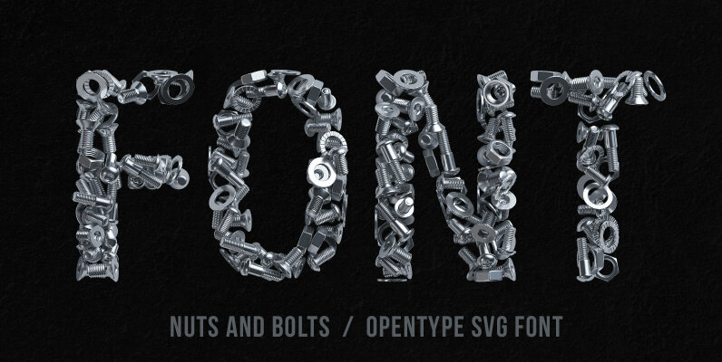 Nuts and Bolts SVG Font