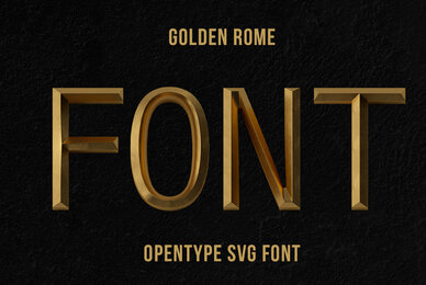 Golden Rome SVG Font