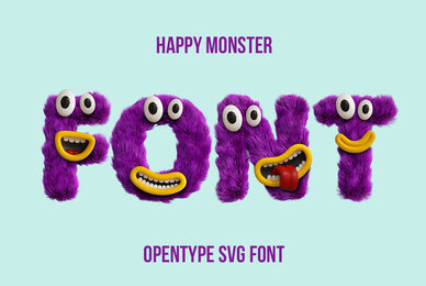 Happy Monster SVG Font