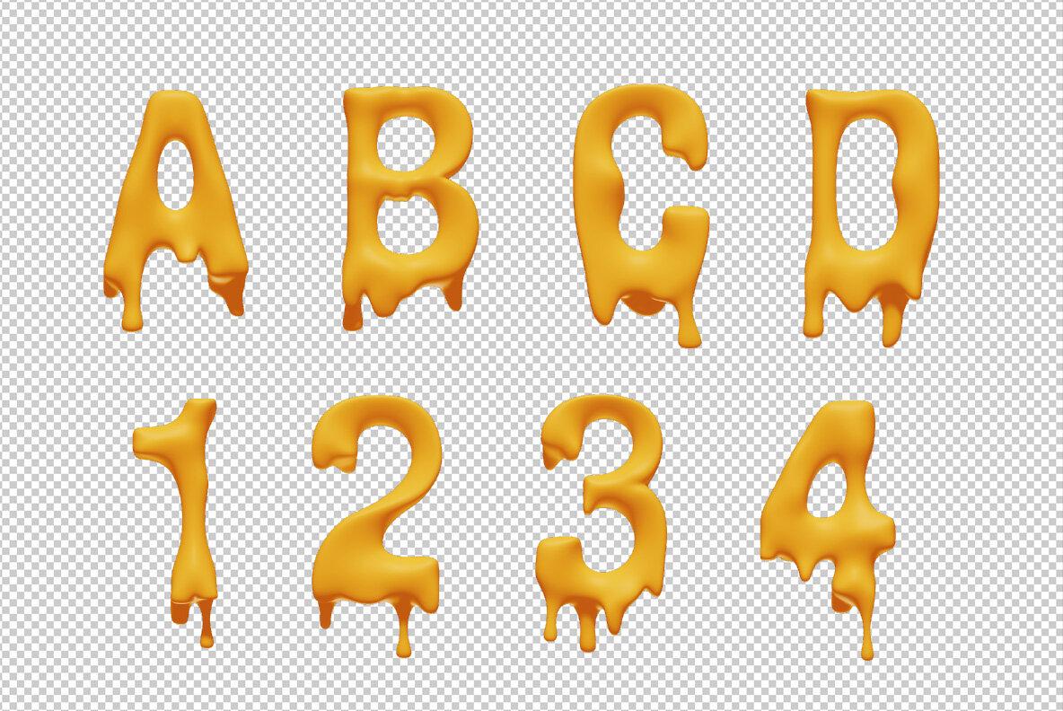 Melting SVG Font