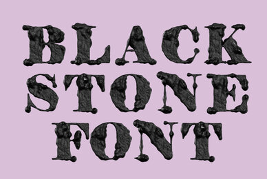 Black Stone SVG Font