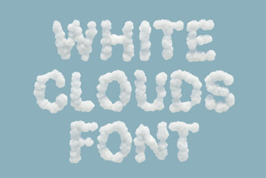 White Clouds SVG Font