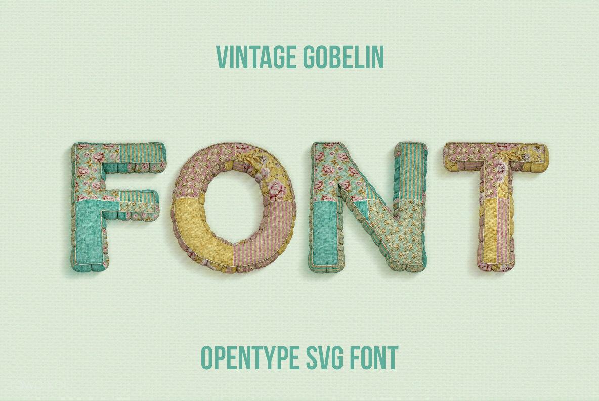 Vintage Gobelin SVG Font