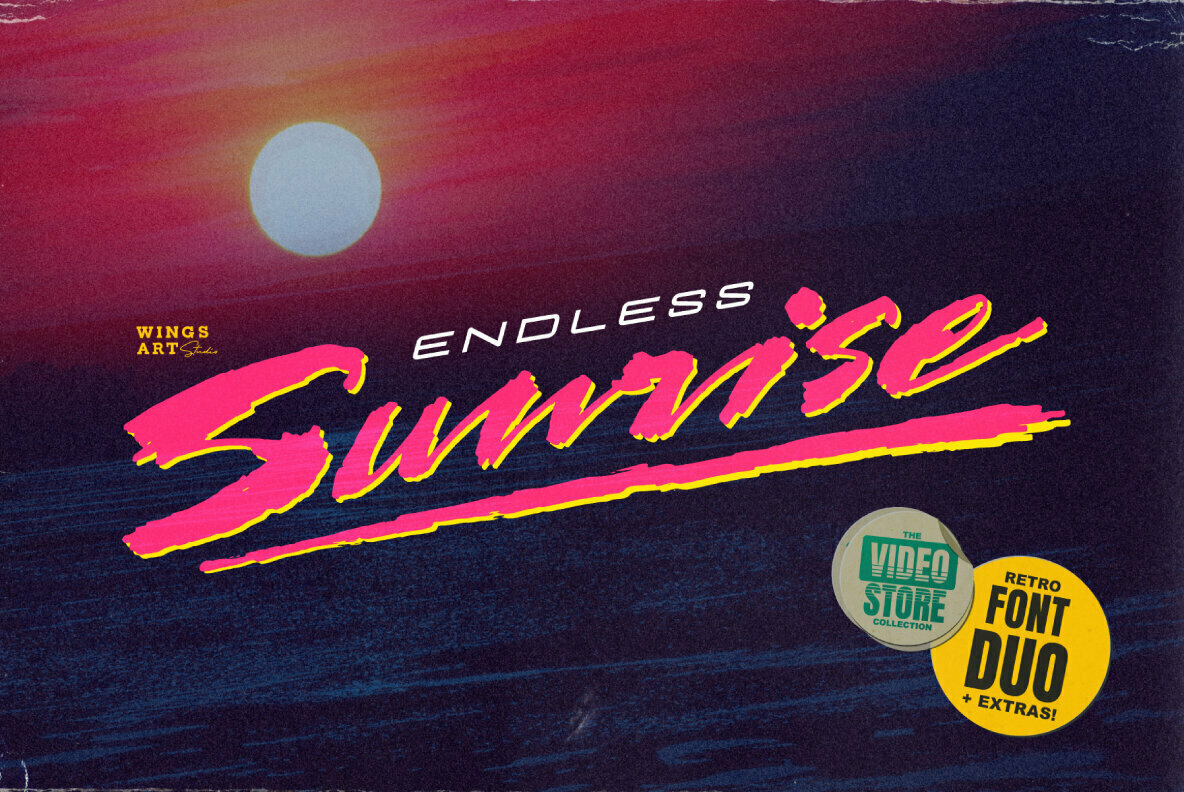 Endless Sunrise Font Duo