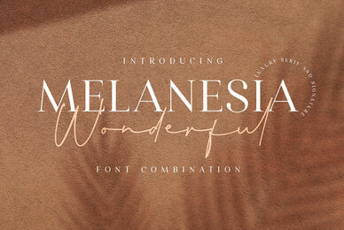 Wonderful Melanesia   Font Duo
