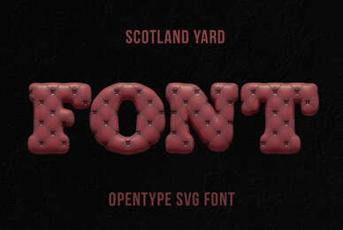 Scotland Yard SVG Font