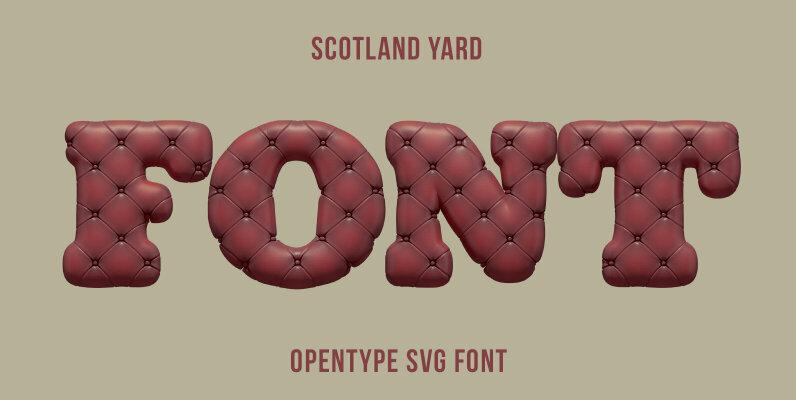 Scotland Yard SVG Font