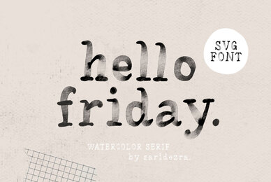 Hello Friday SVG